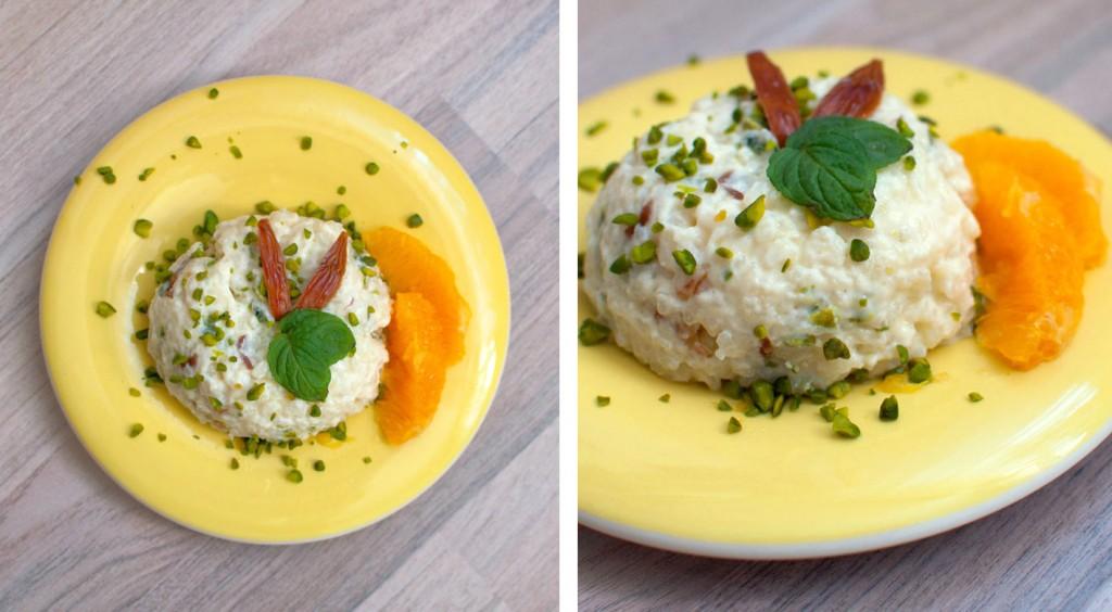 milchreis mit datteln und pistazien arabisches rezept