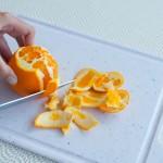 Orange Messer Filets filetieren